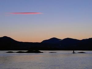 Kurz vor Sonnenaufgang in Torvik
