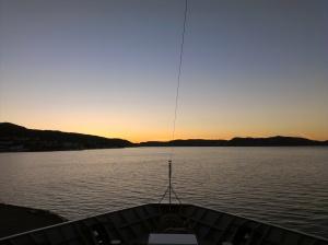 blaue Stunde in Bergen