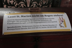 St.Marien / Marienkirche nicht im Regen stehen lassen