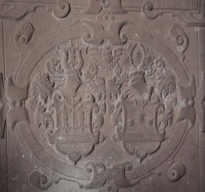 Grab Schönebeck - Wappen Schönebeck und Salzwedel