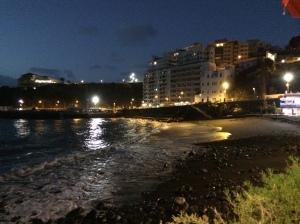 Playa San Marcos am Abend