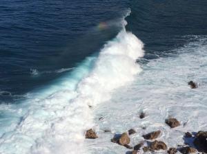 Regenbogen an Welle