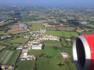 Airbus über Jersey
