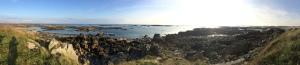 Sonne, Felsen, Meer