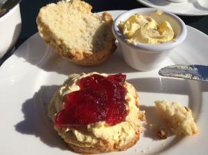 Scone, Butter, Jam