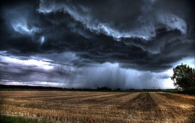 Unwetter über Uedorf